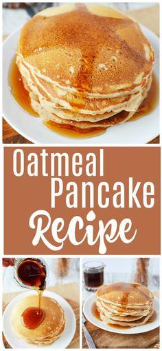 Healthy pancake recipes how to make oatmeal pancakes pancakes breakfast oatmeal healthy recipe recipeoftheday pesto chicken tortellini and veggies home cooking recipes Healthy Breakfast Recipes, Healthy Drinks, Pancake Recipes, Healthy Breakfasts, Healthy Pancake Recipe, Healthy Recipes For Kids, Yummy Healthy Food, Sweet Pancake Recipe, Healthy Vegetarian Recipes