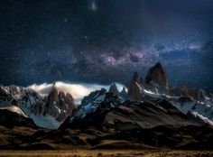 Fantastic landscape photography makes Earth look like a magic dimension  Greg Boratyn captures landscapes with absolute perfection. The photo above, taken in Patagonia, Argentina, using multiple exposures while the rising moon was hitting at the right angle, is a perfect example. This gallery has a lot more.