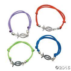 Religious Fish Friendship Bracelets - OrientalTrading.com