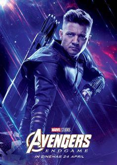 Avengers: Endgame 2019 Character Hawkeye International Marvel Comic Movie Avengers 4 – Poster   Canvas Wall Art Print