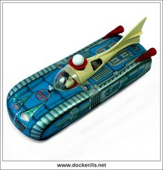 """Lemezarugyar """"Holdauto"""", Hungary. (Picture 1 of 2). Vintage Tin Litho Tin Plate Toy. Mystery Action / Battery Operated Mechanism. With polystyrene bal suspended on air jet. Photo in DOCKERILLS - TIN TOY REFERENCE - EUROPE - Google Photos"""