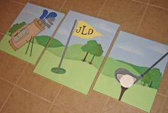 a golf-themed nursery - love it