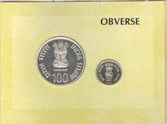 UNC Sets, 2007, The First War of Independence-150 Years, set of 2 coins, Silver 100 Rs & 5 Rs, Mumbai Mint, (RB # 321), with intact in blister pack.