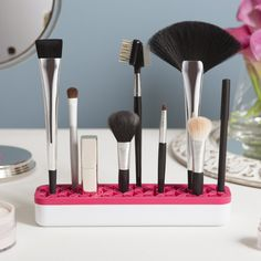 Zen Cosmetics Makeup Organizer, $15...with a grippy silicon base that holds essentials of all sizes straight up...seems like the perfect organizer for nail art tools