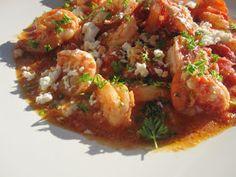Stirring the Pot: Garides Saganaki (Shrimp with Feta and Tomato)