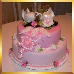 Edible sugar art wedding cake decoration set for swan ...