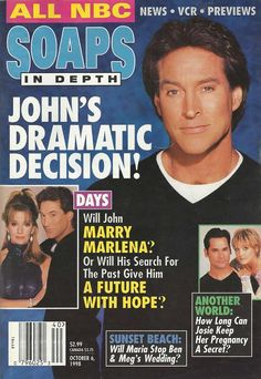 From breaking news and entertainment to sports and politics, get the full story with all the live commentary. Drake Hogestyn, Tv Show Couples, Days Of Our Lives, Nbc News, Life Magazine, Magazine Covers, Sports And Politics, Soaps, Good Books