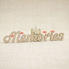 MDF wooden memories word shape laser cut from Premium 3mm MDF (Medium Density Fibreboard). Sizes from 3cm to 6cm tall in 3mm thickness.