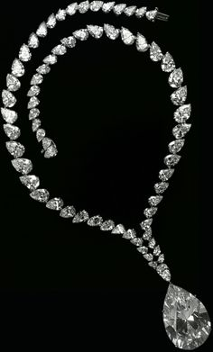 The Taylor-Burton Necklace....Richard Burton was certainly not one to allow himself to be held back by convention, and while it is often said that love holds no price, Burton's love for Elizabeth Taylor was not only worth its weight in gold, but also its size in carats. The result for Burton was the purchase of a 70-carat diamond which Taylor frequently wore as necklace, making the gem somewhat synonymous with the famous star-crossed couple.