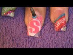 Starburst nail tutorial