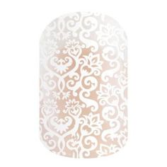 White Romance | Jamberry Layer this with a beautiful dark color (Black Cherry Enamel is GREAT with White Romance) and you get a lovely romantic lace look out of your every day manicure.
