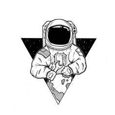 Drawn Astronaut minimalist 1 - 1005 X 1005 Free Clip Art stock illustration Galaxy Drawings, Space Drawings, Pencil Art Drawings, Art Drawings Sketches, Cool Drawings, Tumblr Sketches, Tumblr Art Drawings, Simple Drawings, Drawing Art
