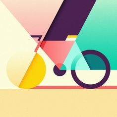 Selected illustrations created in 2016 by Ray Oranges. Often featured on WE AND THE COLOR, Ray Oranges is an exceptional freelance illustrator from Italy. Design Trends 2018, Graphic Design Trends, Graphic Design Inspiration, Daily Inspiration, Creative Inspiration, Illustration Design Graphique, Art Graphique, Bicycle Illustration, Creative Illustration