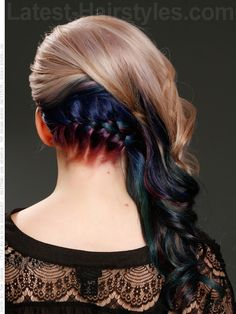 Stunning Low Braid Hairstyle Back View