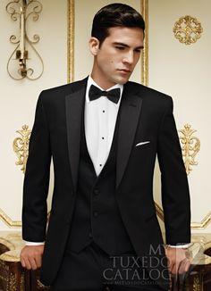 Black Stripe 'Ridge' Tuxedo from http://www.mytuxedocatalog.com/catalog/rental-tuxedos-and-suits/C982-Black-Stripe-Ridge-Tuxedo/