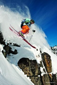Warren Miller athlete Tim Dutton skiing in Squaw Valley, California #Skiing -- Find articles on adventure travel, outdoor pursuits, and extreme sports at http://adventurebods.com