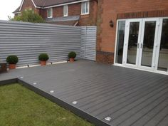 Garden decking and patio ideas for gardens small and large from traditional brick paving to modern tiles and wooden decking See more ideas about Garden decking ideas lig Small Garden Decking Ideas, Garden Ideas Uk, Patio Ideas, Backyard Ideas, Small Back Garden Ideas, Small Backyard Decks, Decking Ideas On A Budget, Small Garden Inspiration, Small Decks