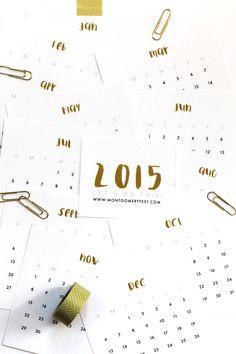 FANTASTIC.  FREE!  2015 Printable Calendar | MontgomeryFest #freeprintable