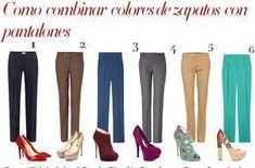 COMO COMBINAR COLORES DE ZAPATOS CON PANTALONES 40s Outfits, Casual Outfits, Fashion Outfits, Womens Fashion, Fashion Tips, Style Simple, My Style, Fashion Corner, Work Wardrobe