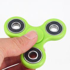 Rot Premium Fidget Spinner Finger Hand Anti Stress EDC ADHS Kunststoff Metall