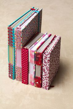 pretty and colorful buttonhole stitch books by *Krishna*, via Flickr