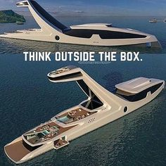 What do you think of this new yacht concept?Be unique. What do you think of this new yacht concept? Yacht Design, Boat Design, Super Yachts, Big Yachts, Luxury Travel, Luxury Cars, Luxury Homes, Car Travel, Vacation Travel