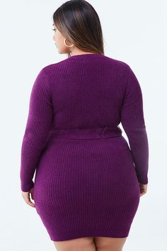 Product Name:Plus Size Belted Sweater Dress, Category:Sale, Ugly Sweater, Sweater Shop, Sweaters, Plus Size Belts, Curvy Girl Outfits, Cute Swag Outfits, Curves Clothing, Plus Size Model, Plus Size Dresses