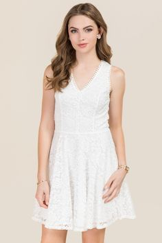 Diana Corded Lace A-line Dress