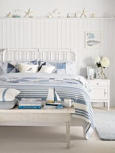 Coastal Style Country Bedroom The Coastal Look Works Beautifully In A  Country Bedroom Design, Even If You Live Miles From The Sea.