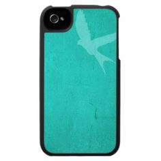 Turquoise Bird In Flight Case For The iPhone 4