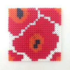 Marimekko design hama beads by katyst Hama Beads Patterns, Beading Patterns, Perler Coasters, Iron Beads, Beaded Crafts, Pearler Beads, Cute Crafts, Pattern Design, Cross Stitch
