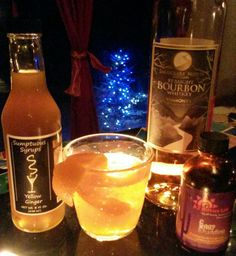 """The Yule'tide Ol' Fashion   2 oz. Smugglers' Notch Distillery Straight Bourbon  1/3 oz. Sumptuous Yellow Ginger Syrup  2 Dashes AZ Bitters Lab Figgy Pudding Bitters  Orange Peel Garnish  Combine all ingredients in mixing glass with Ice.  Stir.   Strain into Ice Filled Old Fashion Glass.  Orange Peel Garnish.  """"Vermont's Other Syrup"""" is sustainably sourced, small batch cocktail syrups.   don @ ssvtdrinxcraftr"""