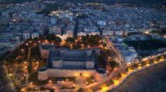Una veduta magica della città di Manfredonia