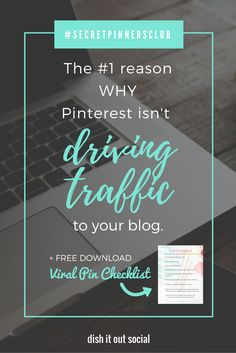 I know the main reason why Pinterest isn't driving traffic to your blog. If your a blogger who's having a hard time on Pinterest, you need to read this.