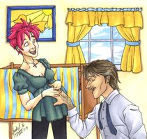 DH: Tonks-Lupin Tender Moment by CrystallineColey