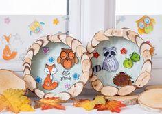Eulen basteln! Decorative Plates, Home Decor, Owl Crafts, Kids, Friends, Fall, Homemade Home Decor, Interior Design, Home Interior Design