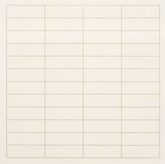 On a Clear Day, 1973 by Agnes Martin