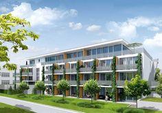 """Neubau von 63 Appartments im Neubauprojekt """"DunantApparte"""" in Freiburg im Breisgau. Foto: Unmüssig"""