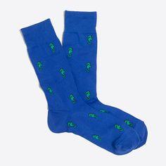 Seahorse socks : Patterned socks | J.Crew Factory