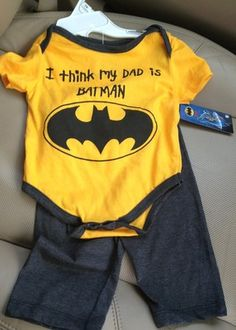 But it would say uncle ; Baby Superhero, Baby Batman, Cute Baby Boy, Cute Babies, Baby Kids, Nananana Batman, Comic Clothes, Raiders Baby, Cute Boy Outfits