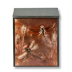 Dragonfly locking mailbox in copper #mailbox #dragonfly