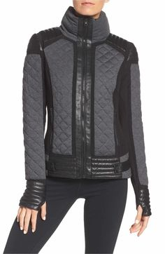 de8e236b6a Bruche belted two-tone quilted ski jacket