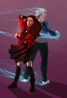 maximoff twins by rismet.deviantart.com on @DeviantArt--obsessed? what do you mean obsessed? nope. not me.