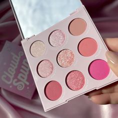 Cloud Spun palette - This baby pink palette is sweeter than candy! Featuring a perfect mix of Super Shock, Pressed Glitter, matte and metallic finishes and a range of pinks to create the sweetest looks! 🍭The full Cotton Candy collection: 💓Cloud Spun palette 💓3 Lippie Stix 💓Take the Cake blush 💓Truffle Shuffle blush 💓3 So Juicy Glosses 💓Candy Floss Marbled Super Shock Highlighter 💓Fluffie Creme Gel Liner 💓Boots Creme Gel Liner ---- IG: @g_sqrd Truffle Shuffle, Pastel Makeup, Baby Pink Aesthetic, Glitter Eyeshadow Palette, Pink Palette, Violet Voss, Makeup Needs, Candy Floss, Colourpop Cosmetics