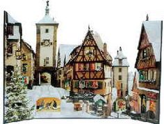 Rothenburg ob der Tauber Advent CalendarYou probably won't be surprised to learn that Germany is the birthplace of the Advent calendar. The first were printed on paper and date back to the beginning of the twentieth century. While paper calendars are still the most usual, nowadays they can be made of wood, fabric, or the always popular LEGOs. the world's largest freestanding Advent calendar in Leipzig.