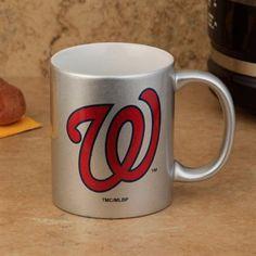 fae2e85ea14 Washington Nationals 11oz Ceramic Coffee Mug - Metallic Silver