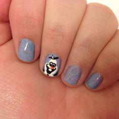 Disney's Frozen Olaf Nail Art