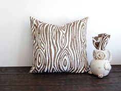 Brown tree pillow cover One 18 x 18 cushion by ThePillowPeople, $16.00
