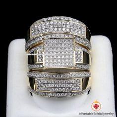 2.30CT 14K Yellow Gold Finish Diamond Engagement Bridal Ring Wedding Trio Set  #Affordablebridaljewelry