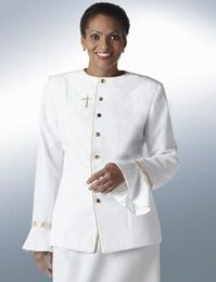 Women's 2 piece clergy suit, in creme. See fabric on the ...